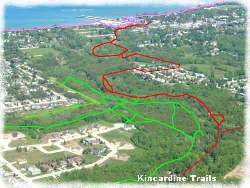 Kincardine Trails from the air